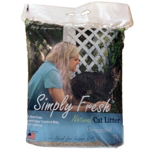 Simply Fresh Natural Dust Free (Clumping) Cat Litter Unscented 30lb