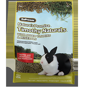 Zupreem Nature's Promise Timothy Naturals Adult Rabbit Food