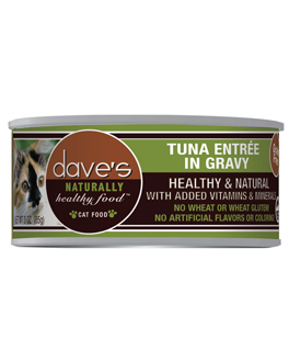 Dave's Naturally Healthy Grain Free Canned Cat Food Tuna Entree
