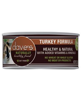 Dave's Naturally Healthy Grain Free Canned Cat Food Turkey Entree