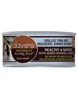 Dave's Naturally Healthy Grain Free Canned Cat Food Tuna & Mackerel Dinner