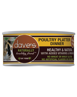 Dave's Naturally Healthy Grain Free Canned Cat Food Poultry Dinner