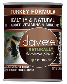 Dave's Naturally Healthy Grain Free Canned Cat Food Turkey Formula