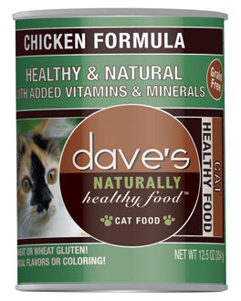 Dave's Naturally Healthy Canned Cat Food Chicken Formula