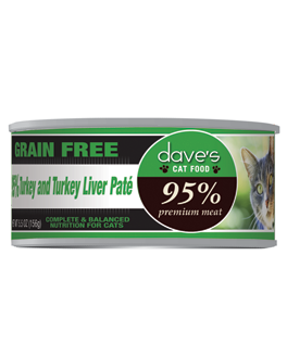 Dave's 95% Premium Meat Cat Food - Turkey & Turkey Liver Pate