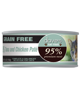 Dave's 95% Premium Meat Cat Food - Tuna & Chicken Pate