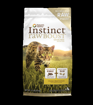 Nature's Variety Instinct Raw Boost Grain Free Chicken Meal Dry Cat Food
