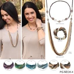3-in-one Magnetic Crystal Necklace/Bracelet by Simply Noelle