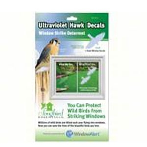 Songbird Essentials® Ultraviolet Hawk Decals (2 Piece) Window Strike Deterrent