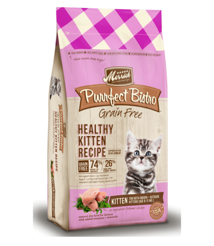 Merrick Purrfect Bistro Grain Free Healthy Kitten Recipe Dry Food