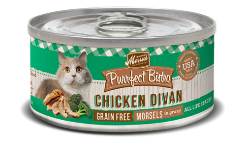 Merrick Purrfect Bistro Grain Free Chicken Divan Canned Cat Food