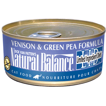Natural Balance L.I.D. Venison & Green Pea Canned Cat Food