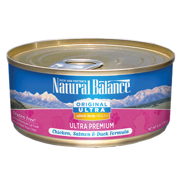 Natural Balance Original Ultra Whole Body Health Chicken, Salmon & Duck Canned Cat Food