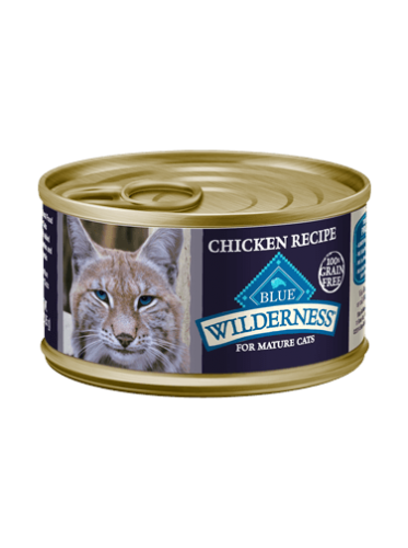 Blue Buffalo Wilderness Chicken Recipe Mature Canned Cat Food