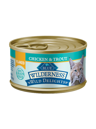 Blue Buffalo Wilderness Wild Delights Flaked Chicken & Trout Canned Cat Food