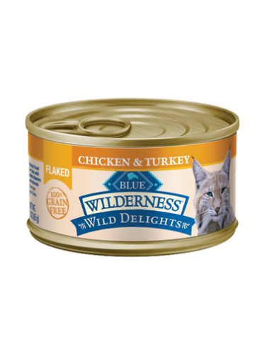 Blue Buffalo Wilderness Wild Delights Flaked Chicken & Turkey Canned Cat Food
