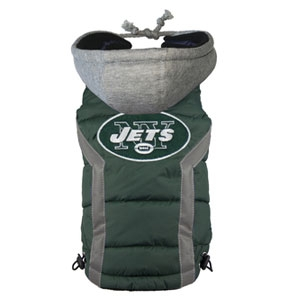New York Jets NFL Puffer Vest for Dogs