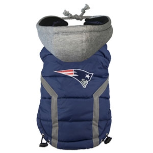New England Patriots NFL Puffer Vest for Dogs