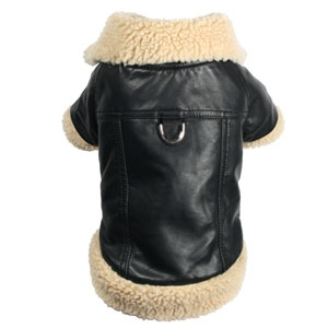 Classic Shearling Leatherette Coat for Dogs