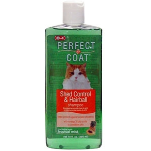 Perfect Coat 10oz Shed Hairball Shampoo for Cats