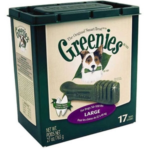Greenies Original Smart Treat Tub Pak Large 27oz for Dogs