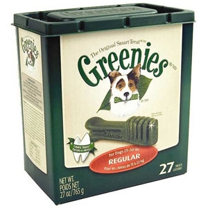 Greenies Original Smart Treat Tub Pak Regular 27oz