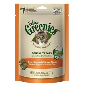 Feline Greenies Dental Treats Chicken 2.5oz