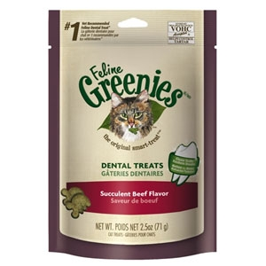 Feline Greenies Dental Treats Beef 2.5oz