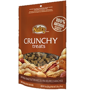 Nutro 10oz Crunchy Dog Treats with Real Peanut Butter