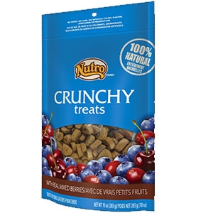 Nutro 10oz Crunchy Dog Treats with Real Mixed Berries