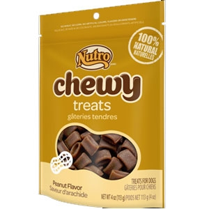 Nutro 4oz Chewy Dog Treats With Real Blueberries