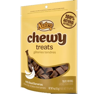 Nutro 4oz Chewy Dog Treats with Real Bananas