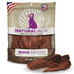 Loving Pets Natural Value Duck Tenders for Dogs