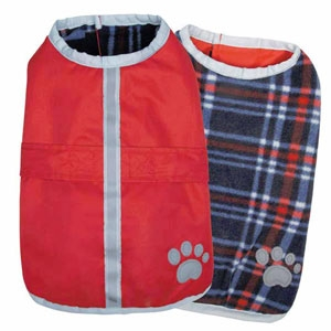 Nor'easter Dog Blanket Coat - Dark Red
