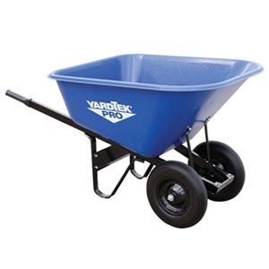 Master Gardner Yard Tek Pro Poly Wheelbarrow 10 cu ft