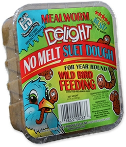 C&S Mealworm Delight No Melt Wild Bird Suet Dough