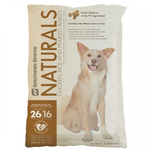 Southern States Naturals Chicken, Rice and Pearled Barley Dog Food - 40 lbs