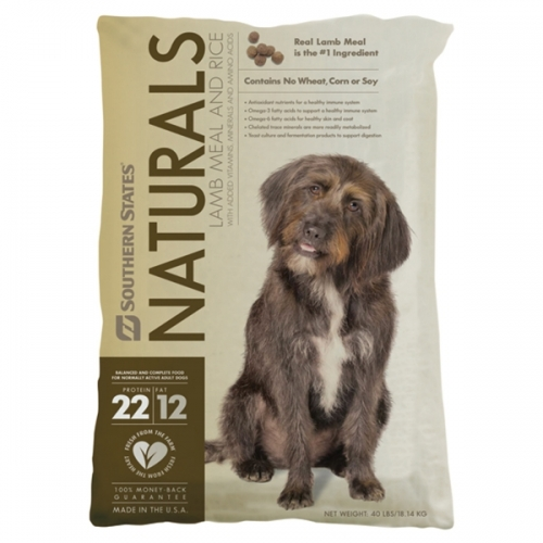 Southern States Naturals Lamb Meal and Rice Dog Food - 40 lbs