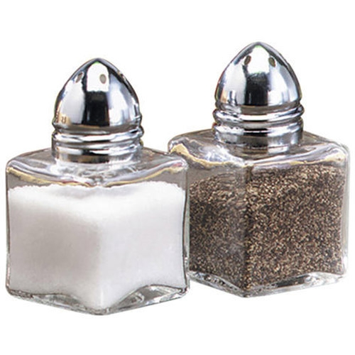 Small Glass Salt & Pepper Shakers