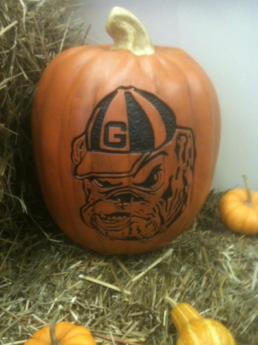 Need a UGA Dawg Fan Pumpkin?