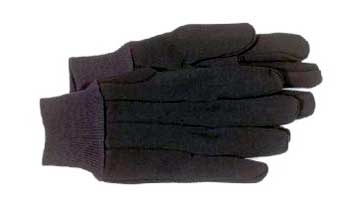 4020 Brown Jersey Glove - Large