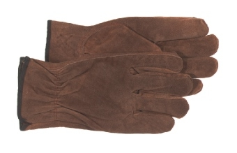 4066L Split Leather Glove - Brown