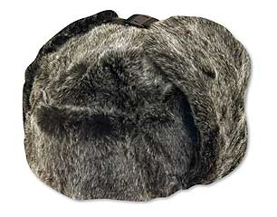 Faux Fur Trooper Hat Black