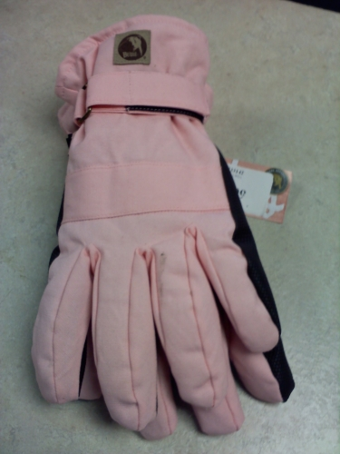 Ladies Canvas Glove - Pink - LG/XLG