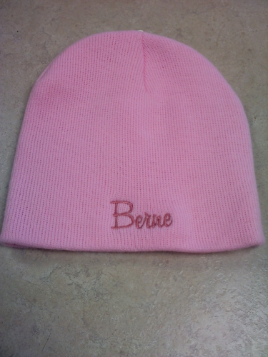 Ladies Solid Beanie Hat - Pink