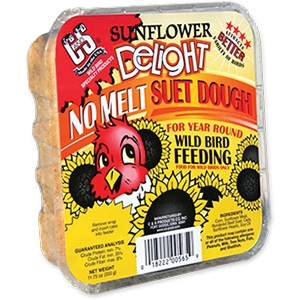 C & S Sunflower Delight Wild Bird No Melt Suet Dough