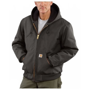 Men's Carhartt Cotton Duck Active Jac/Quilted-Flannel Lined Jacket