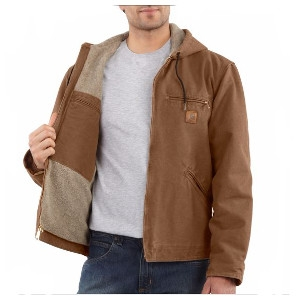 Men's Carhartt Cotton Sandstone Sierra Jacket/Sherpa Lined