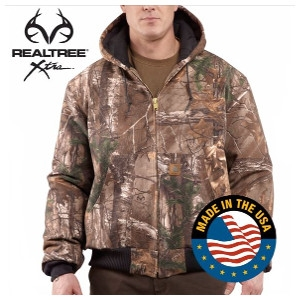 Men's Carhartt Cotton Duck Quilted-Flannel Lined Camo Active Jacket