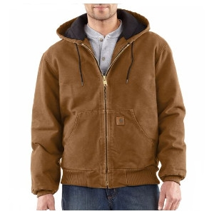 Men's Carhartt Sandstone Active Jac/Quilted Flannel Lined Jacket